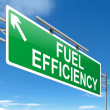 Stock Photo: Fuel efficiency concept.