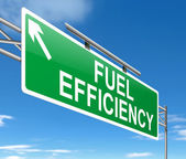 Fuel efficiency concept. — Stock Photo