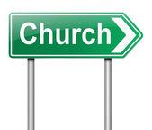 Kirche zeichen. — Stockfoto