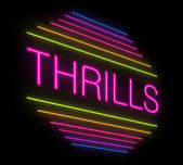 Thrills sign. — Foto Stock
