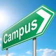 Campus sign. - Stock Photo
