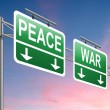 Royalty-Free Stock Photo: War or peace concept.