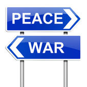 Krig eller fred koncept. — Stockfoto