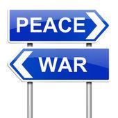 Válka nebo mír koncepce. — Stock fotografie