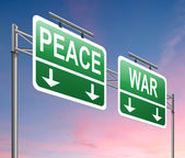 War or peace concept. — Stock Photo