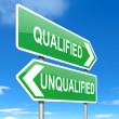 Stock Photo: Qualified or unqualified.