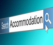 Accommodation search. — Stock Photo