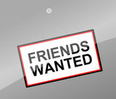 Friends wanted concept. — Stock Photo