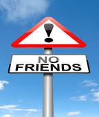 Ningún concepto amigos. — Foto de Stock