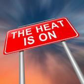 The heat is on. — Stock Photo