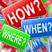 How when and where. — Stock Photo