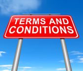 Terms and conditions. — Stock Photo