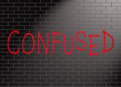 Confused concept. — Fotografia Stock