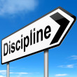 Discipline concept. — Stock Photo