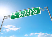 Annual review concept. — Stock Photo
