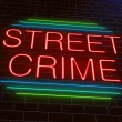 Stock Photo: Street crime concept.