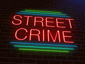 Street crime concept. — Stock Photo
