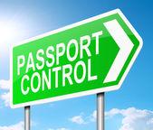 Señal de control de pasaporte. — Foto de Stock