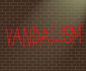 Vandalism concept. — Stock Photo