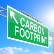 Stock Photo: Carbon footprint concept.