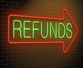 Refund concept. — Stock Photo
