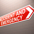 Accident and Emergency sign. — Foto Stock