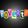 Poverty concept. — Stock Photo