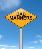 Bad manners concept. — Stock Photo