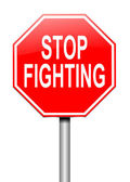 Stop fighting concept. — Stock Photo