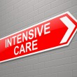 Stock Photo: Intensive care sign.