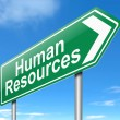 Stock Photo: Human Resources concept.