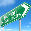 Human Resources concept. — Stock Photo
