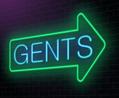 Gents neon sign. — Stock Photo