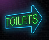 Toilet neon sign. — Stock Photo