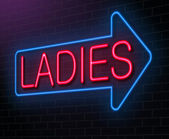 Ladies neon sign. — Stock Photo