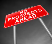 No prospects ahead. — Stock Photo