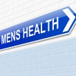 Stock Photo: Mens Health sign.