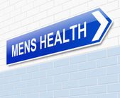 Mens Health sign. — Stock Photo