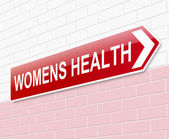 Womens health sign. — Stock Photo