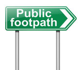 Public Footpath sign. — Stock Photo