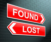 Lost or found concept. — Stock Photo