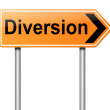 Stock Photo: Diversion sign.