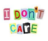 I don't care. — Stock Photo