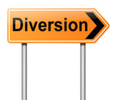 Diversion sign. — Stock Photo