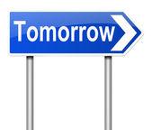 Tomorrow concept. — Stock Photo