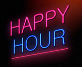 Happy hour concept. — Stock Photo