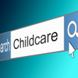 Stock Photo: Childcare search concept.