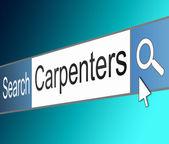 Carpenter search concept. — Stock Photo
