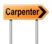 Carpenter concept. — Stock Photo