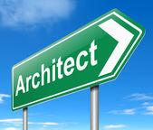 Architect concept. — Stock Photo